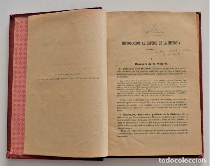 Libros antiguos: COMPENDIO DE HISTORIA UNIVERSAL - MANUEL ZABALA ARDANIZ - MADRID AÑO 1902 - Foto 5 - 204076726