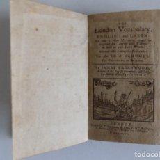 Libros antiguos: LIBRERIA GHOTICA. RARÍSIMO LIBRO DE ESCUELA DEL SIGLO XVIII.1797.OBRA CON MULTITUD DE GRABADOS.. Lote 205810197