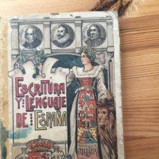 Libros antiguos: ESCRITURA Y LENGUAJE DE ESPAÑA - ESTEBAN PALUZIÉ - MANUSCRITO - PALEOGRAFÍA. Lote 206281686