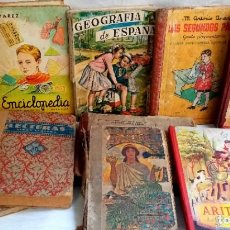 Libri antichi: LOTE 10 LIBROS ESCUELA DE LOS AÑOS 20 A LOS 60. Lote 207758635