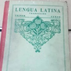 Libros antiguos: LENGUA LATINA TRADUCCIÓN PRIMER CURSO. Lote 208218456