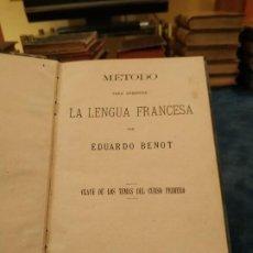 Libros antiguos: 1.887. MÉTODO PARA APRENDER LA LENGUA FRANCESA. CLAVE DE LOS TEMAS. CURSO 1º - EDUARDO BENOT. Lote 208360148
