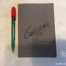 Libros antiguos: CUADERNO ESCOLAR ANTIGUO USADO AÑO 1943 PEQUEÑO. Lote 208653877