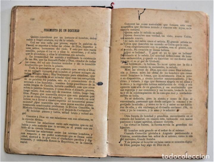 Libros antiguos: EL BUEN HABLISTA, COLECCIÓN DE TROZOS ESCOGIDOS EN PROSA Y VERSO - VALENCIA 1904 - Foto 8 - 209039161