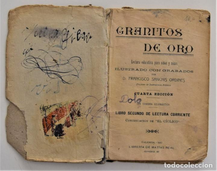 Libros antiguos: GRANITOS DE ORO, LIBRO SEGUNDO DE LECTURA CORRIENTE - FRANCISCO SANCHIS ORDINES - VALENCIA 1917 - Foto 4 - 209041355