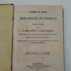 Libros antiguos: CUADERNOS DE LECTURA PARA EL USO DE ESCUELAS - QUINTO CUADERNO 1877 - VER FOTOS. Lote 209360595