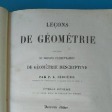 Libros antiguos: LEÇONS DE GÉOMÉTRIE, PARIS 1844 - ÉLÉMENTS DE TRIGONMÉTRIE, PARIS 1847. Lote 210576237
