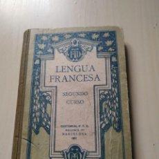 Libros antiguos: 1.921. LENGUA FRANCESA. SEGUNDO CURSO. EDITORIAL F.T.D. Lote 211945866