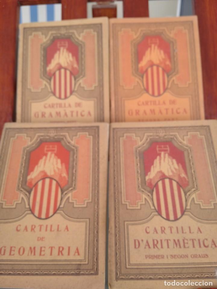 1931-CARTILLAS DE GRAMATICA 1ª Y2ª PART-CARTILLA DE GEOMETRIA-CARTILLA D'ARITMETICA-LOTE 4 -MAGNIFIC (Libros Antiguos, Raros y Curiosos - Libros de Texto y Escuela)