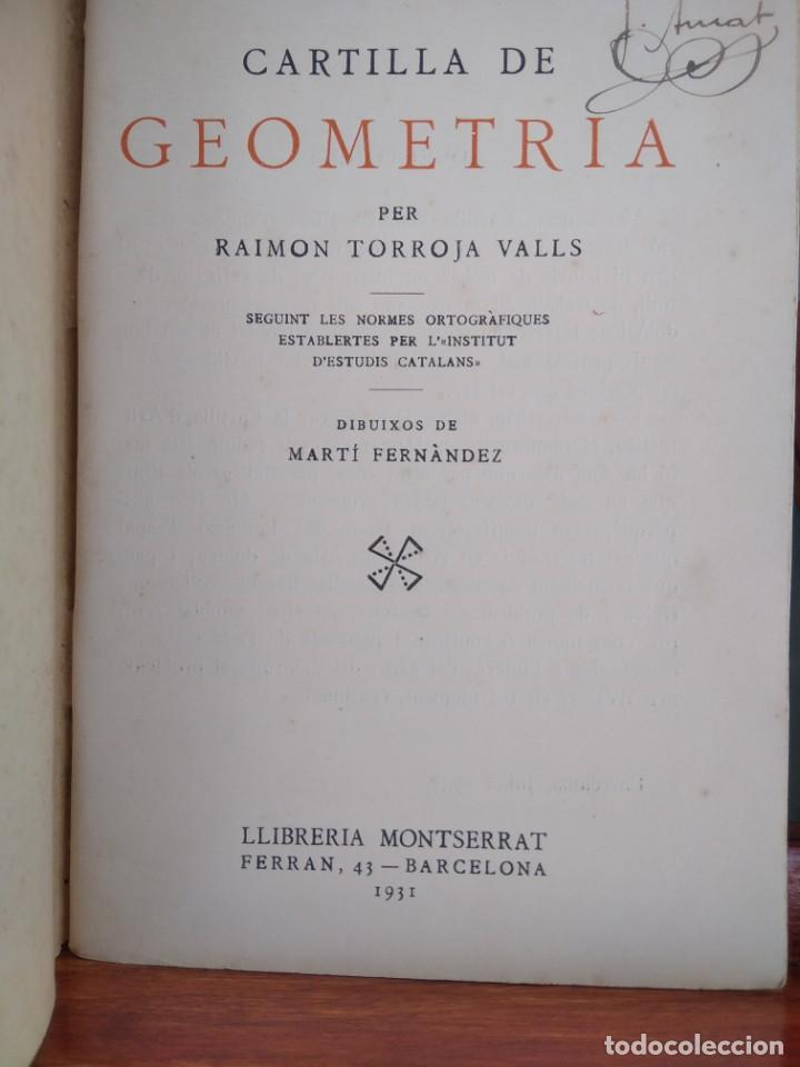 Libros antiguos: 1931-CARTILLAS DE GRAMATICA 1ª Y2ª PART-CARTILLA DE GEOMETRIA-CARTILLA DARITMETICA-LOTE 4 -MAGNIFIC - Foto 23 - 212199375