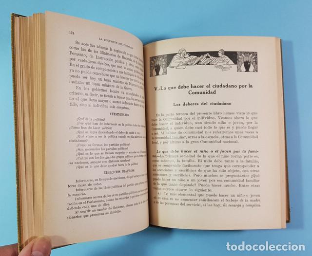 Libros antiguos: LA EDUCACION DEL CIUDADANO, JUAN PALAU VERA, SEIX BARRAL 1921 ES ORIGINAL + DIPTICO REGALO - Foto 6 - 212897828