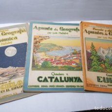Libros antiguos: APUNTES DE GEOGRAFÍA LLUIS MALLAFRE EDITORIAL ROMA AÑOS 30 LOTE 3. Lote 213889862