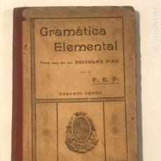 Libros antiguos: GRAMATICA ELEMENTAL 1903 ESCUELAS PIAS. Lote 214497140