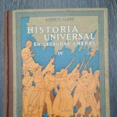Libros antiguos: HISTORIA UNIVERSAL EN LECTURAS AMENAS IV. ALBERTO LLANO. SEIX BARRAL. 1932. REVOLUCIÓN FRANCESA. Lote 218183190