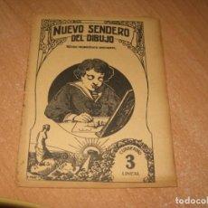Libros antiguos: NUEVO SENDERO DEL DIBUJO CUADERNO 3 LINEAL. Lote 219108937