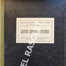 Libros antiguos: ANTIGUO LIBRO DE CONTABILIDAD - ESCUELA MUNICIPAL DE ARTES Y OFICIOS DE TARRASA -. Lote 219404216