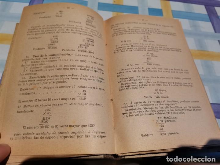 Libros antiguos: LECCIONES DE ARITMÉTICA D. JOSÉ DALMAU CARLES AÑO 1896 POSIBLE RECOGIDA EN MALLORCA - Foto 5 - 220120520