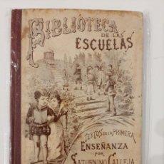 Libros antiguos: BIBLIOTECA DE LAS ESCUELAS XII. DERECHO. SATURNINO CALLEJA. 1901. Lote 221887320