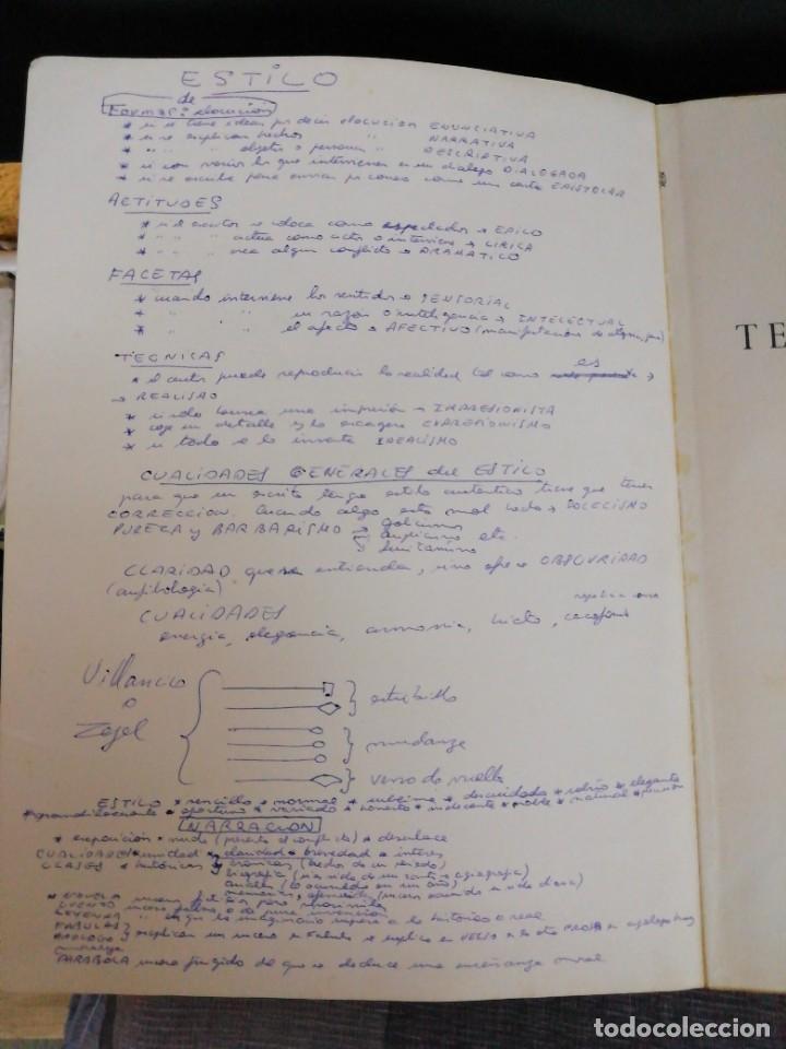 Libros antiguos: Textos literarios comentados Sexto curso Plan 1957 Zaragoza - Foto 3 - 221894052