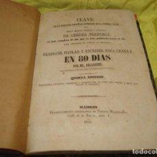 Libros antiguos: CLAVE DE LA LENGUA FRANCESA EN 80 DIAS, MR. DELABORDE. VICENTE MALDONADO, 1859. Lote 221944860