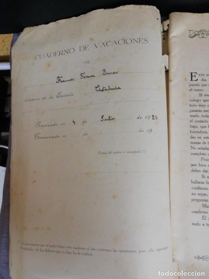 Libros antiguos: Cuaderno de Vacaciones en tres grados /Grado tercero /Luis Alabart Ballesteros 1927 - Foto 2 - 221992225