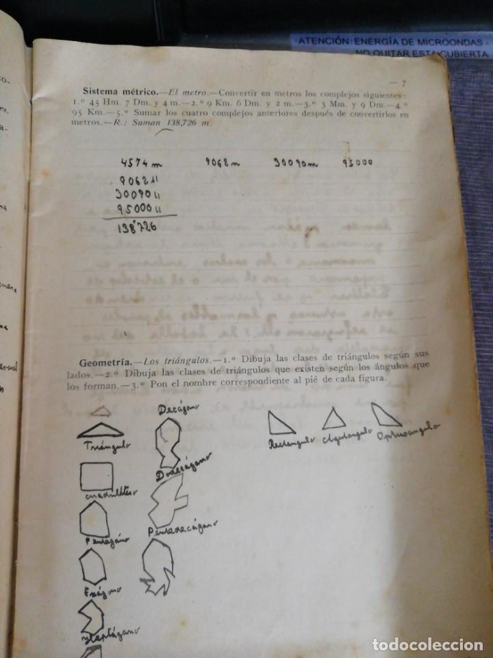 Libros antiguos: Cuaderno de Vacaciones en tres grados /Grado tercero /Luis Alabart Ballesteros 1927 - Foto 5 - 221992225