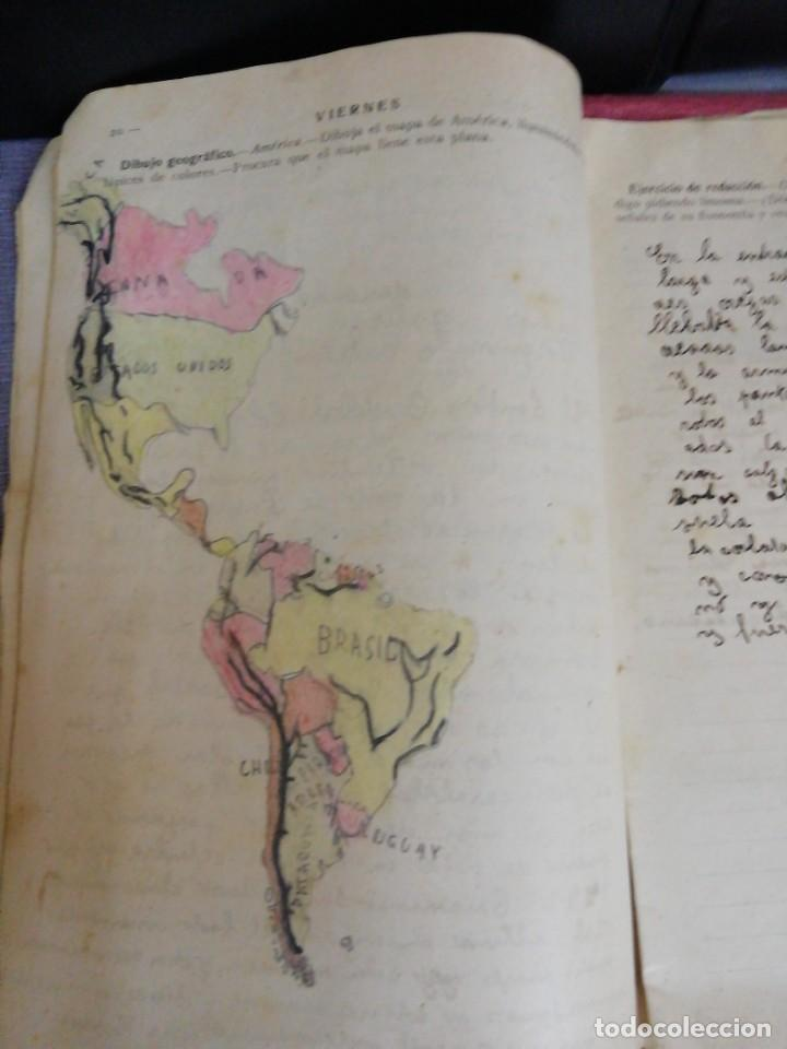 Libros antiguos: Cuaderno de Vacaciones en tres grados /Grado tercero /Luis Alabart Ballesteros 1927 - Foto 6 - 221992225