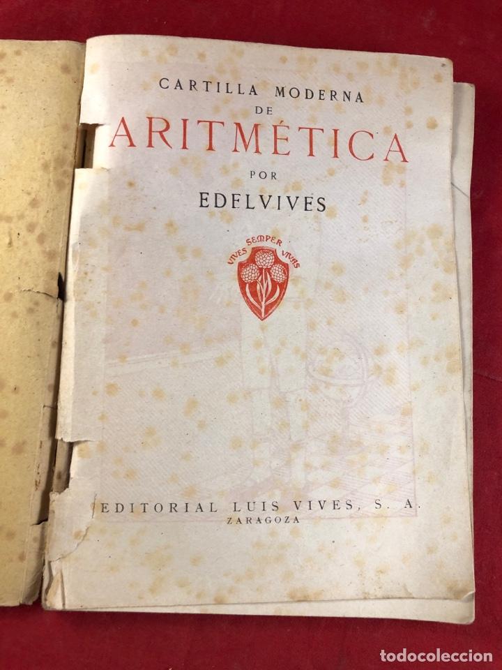 Libros antiguos: Cartilla moderna de aritmética - Foto 2 - 222314562