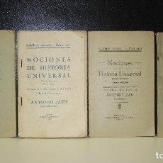 Libros antiguos: BACHILLERATO ELEMENTAL. PRIMER CURSO. NOCIONES DE HISTORIA UNIVERSAL. EXTRACTO DE LA OBRA EXTENSA EN. Lote 222639440
