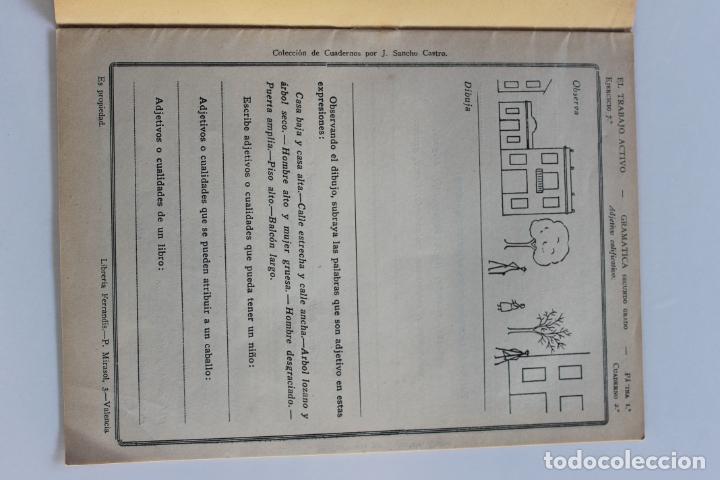 Libros antiguos: EL TRABAJO ACTIVO, POR J. SANCHO CASTRO, EJERCICIOS DE GRAMATICA 2º GRADO, Nº 2, VALENCIA 1 - Foto 3 - 222704932