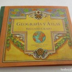 Libros antiguos: GEOGRAFÍA Y ATLAS, SEGUNDO GRADO, 1924, EDT: F,T.D. BARCELONA. Lote 222792118
