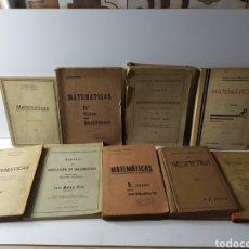 Libros antiguos: LOTE LIBROS MATEMATICAS. Lote 223028363