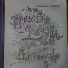 Livros antigos: ATLAS GEOGRÁFICO UNIVERSAL, SALVADOR SALINAS, 1948, VER FOTOS. Lote 223252003