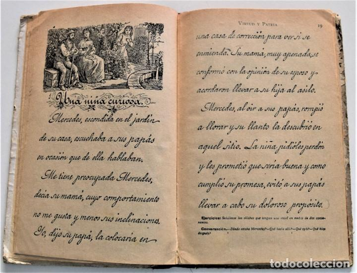 Libros antiguos: VIRTUD Y PATRIA, PRIMER GRADO LECTURAS MANUSCRITAS - JUAN RUIZ ROMERO - ZARAGOZA, BARCELONA 1931 - Foto 4 - 224114801