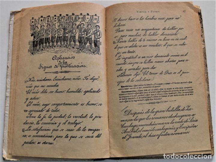 Libros antiguos: VIRTUD Y PATRIA, PRIMER GRADO LECTURAS MANUSCRITAS - JUAN RUIZ ROMERO - ZARAGOZA, BARCELONA 1931 - Foto 5 - 224114801