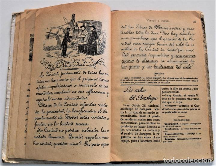 Libros antiguos: VIRTUD Y PATRIA, PRIMER GRADO LECTURAS MANUSCRITAS - JUAN RUIZ ROMERO - ZARAGOZA, BARCELONA 1931 - Foto 6 - 224114801