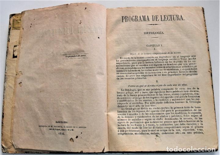 Libros antiguos: PROGRAMA DE LA TEORÍA DE LA LECTURA Y ESCRITURA - JAIME FALIU Y GODAY - BARCELONA AÑO 1876 - Foto 4 - 224193907