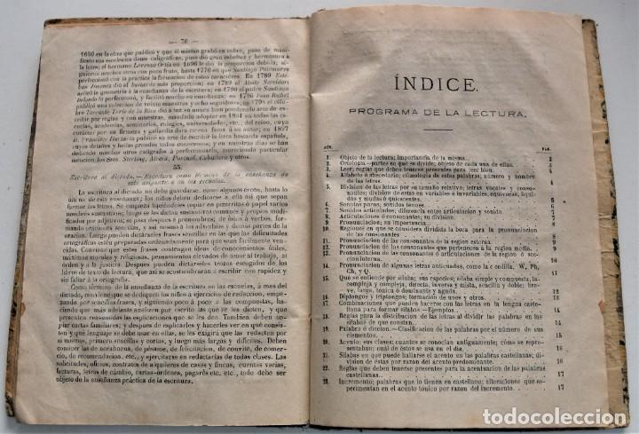 Libros antiguos: PROGRAMA DE LA TEORÍA DE LA LECTURA Y ESCRITURA - JAIME FALIU Y GODAY - BARCELONA AÑO 1876 - Foto 5 - 224193907