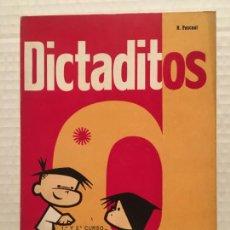 Livros antigos: ANTIGUO CUADERNO DE ESCUELA DICTADITOS CURSO 1º Y 2º AÑO 1968. Lote 224562915