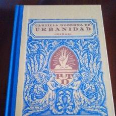 Libros antiguos: CARTILLA MODERNA DE URBANIDAD, 1929, BARCELONA. Lote 226015415