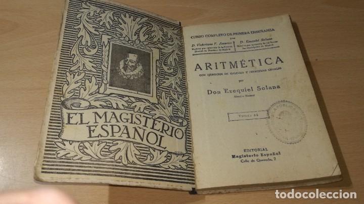 Libros antiguos: ARITMETICA / EZEQUIEL SOLANA / 1932 EL MAGISTERIO ESPAÑOL / S+206 - Foto 3 - 226131955