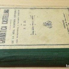 Libros antiguos: GRAMATICA CASTELLANA SEGUNDO GRADO / F T D / 1910 LIBRERÍA CATOLICA BARCELONA / W+206. Lote 226133303