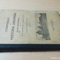 Libros antiguos: COMPENDIO HISTORIA UNIVERSAL EDAD MODERNA / RAMON RUIZ / 1945 LIBRERÍA RELIGIOSA BARCELONA / W+306. Lote 226135030