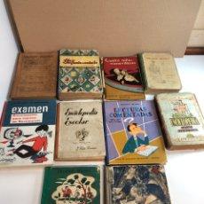 Libros antiguos: LOTE DE 10 LIBROS ANTIGUOS DE COLEGIO. Lote 226617775