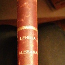 Libros antiguos: GRAMÁTICA ELEMENTAL DE LA LENGUA ALEMANA. D. LUIS Mª BRUGADA Y PANIZO 1898. Lote 228465955