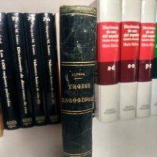 Libros antiguos: TROZOS ESCOGIDOS ... ALEJANDRO GÓMEZ RANERA - PARTES I Y II ( PROSA Y VERSO ) 1894 - MEDIA PIEL. Lote 232511305