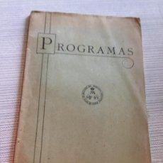 Libros antiguos: ANTIGUO LIBRO ESCOLAR DE RELIGIÓN PROGRAMA DE HISTORIA SAGRADA AÑOS 40. Lote 233179500