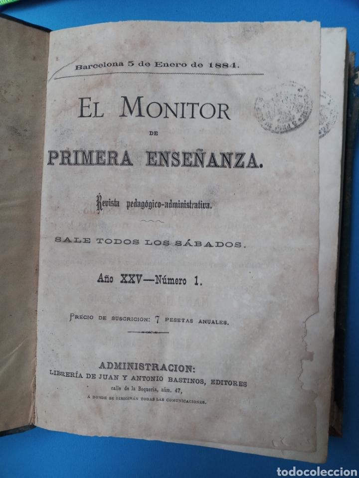 EL MONITOR DE PRIMERA ENSEÑANZA - 1884 (Libros Antiguos, Raros y Curiosos - Libros de Texto y Escuela)
