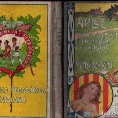 Libros antiguos: APLEC - ESCOLES DE CATALUNYA, MALLORCA, VALÈNCIA, ROSSELLÓ (PEDAGÒGICA CATALANA 1932). Lote 235983425