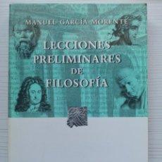 Libros antiguos: LECCIONES PRELIMINARES SOBRE FILOSOFÍA. Lote 236915560